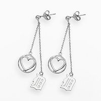 LogoArt Detroit Tigers Beloved Sterling Silver Linear Drop Earrings