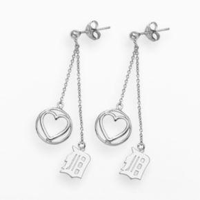 LogoArt Detroit Tigers Beloved Sterling Silver Linear Drop Earrings