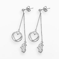 LogoArt Chicago White Sox Beloved Sterling Silver Linear Drop Earrings