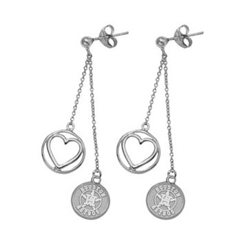Houston Astros Beloved Sterling Silver Linear Drop Earrings