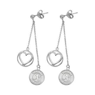 Oakland Athletics Beloved Sterling Silver Linear Drop Earrings