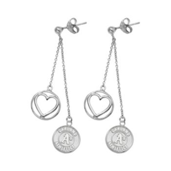 Oakland Athletics Beloved Sterling Silver Linear Drop Earrings