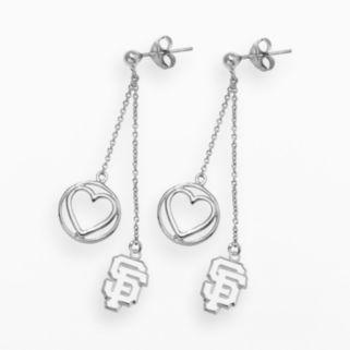 LogoArt San Francisco Giants Beloved Sterling Silver Linear Drop Earrings