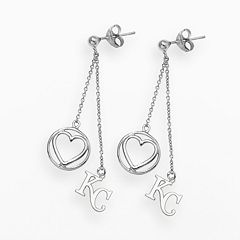 LogoArt Kansas City Royals Beloved Sterling Silver Linear Drop Earrings