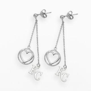 LogoArt Kansas City Royals Beloved Sterling Silver Linear Drop Earrings