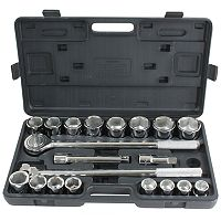 21 pc 3/4-Inch Drive SAE Socket Set