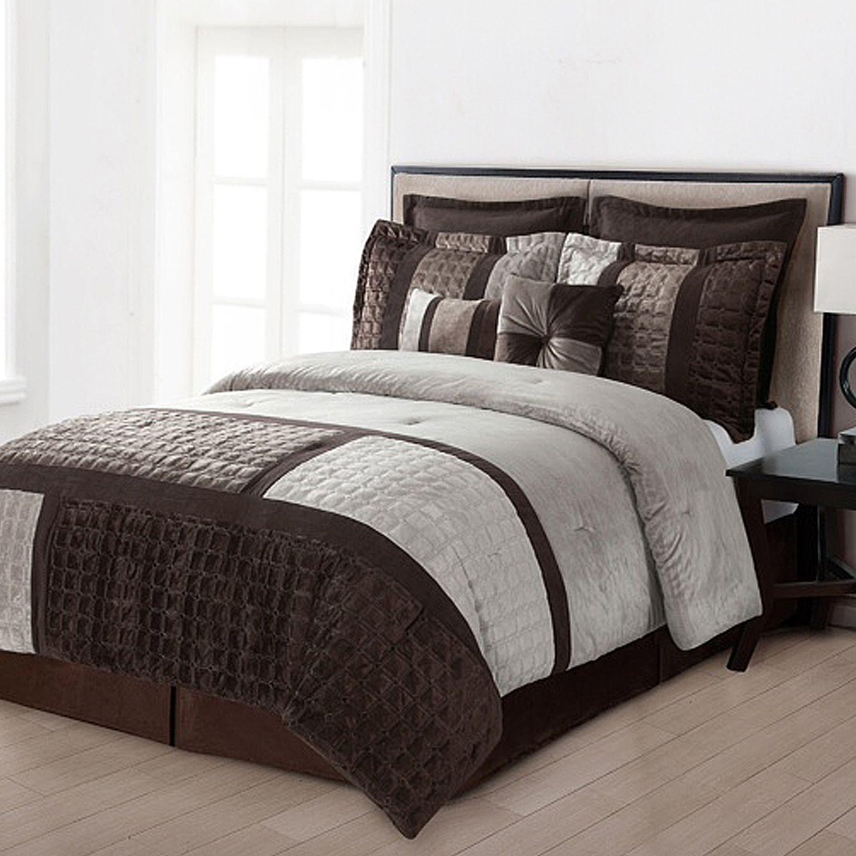 Home Classics Legion 8 Pc Microplush Comforter Set King