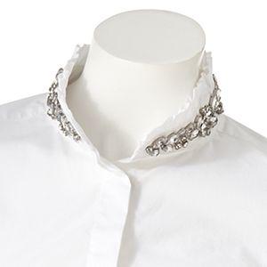ELLE? Embellished Ruffle Shirt
