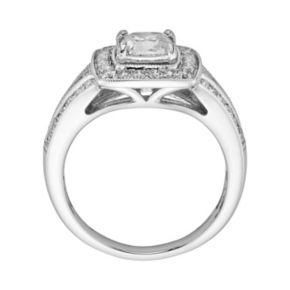 14k White Gold 1 1/2-ct. T.W. Cushion-Cut  IGL Certified Diamond Frame Ring