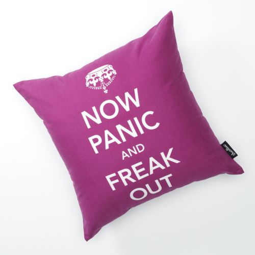 Threadless Now Panic and Freak Out Decorative Pillow
