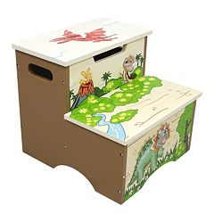 Teamson Kids Fantasy Fields Dinosaur Kingdom Storage Step Stool by