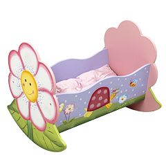 Teamson Kids Fantasy Fields Magic Garden Rocking Bed for Dolls  by