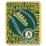 Oakland Athletics Jacquard Throw by Northwest