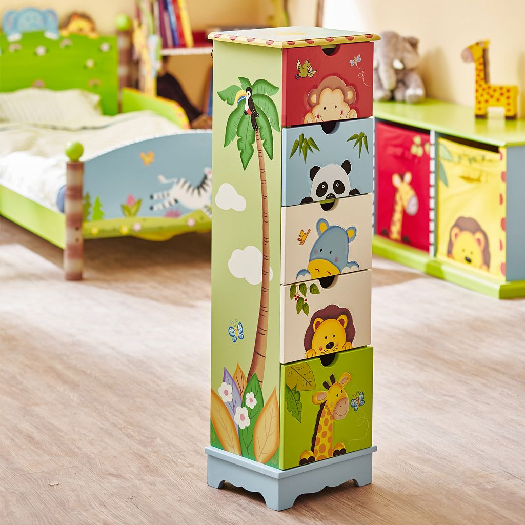 Teamson Kids Sunny Safari 5-Drawer Cabinet