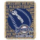 Milwaukee Brewers Jacquard Throw by Northwest