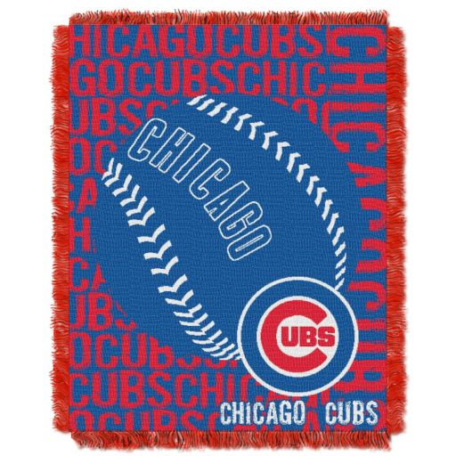 Chicago Cubs Jacquard Throw by Northwest