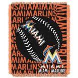 Miami Marlins Jacquard Throw by Northwest