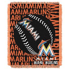Miami Marlins Jacquard Throw by Northwest