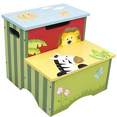 Teamson Kids Sunny Safari Storage Step Stool by