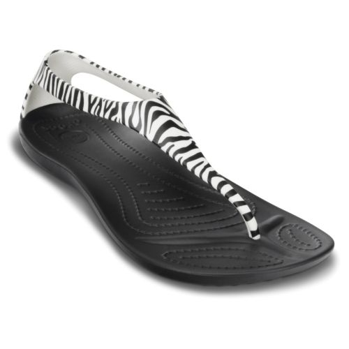 Crocs Leopard Flip Sandals - Women