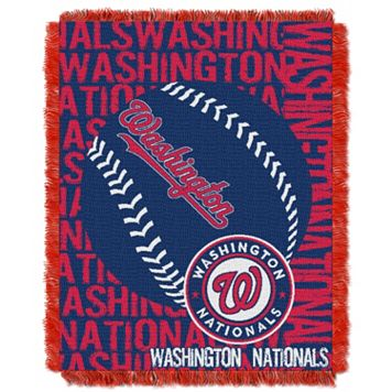 Washington Nationals Jacquard Throw by Northwest