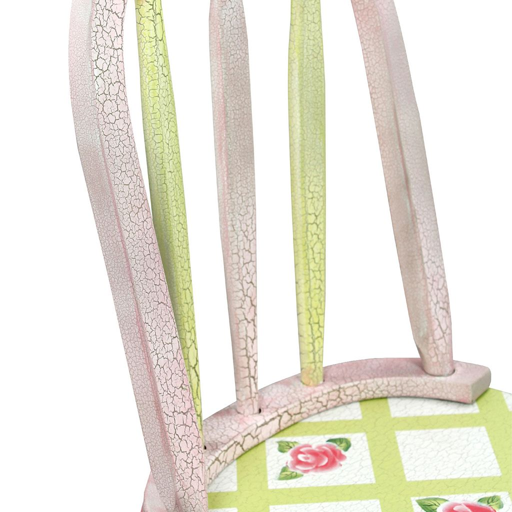Teamson Kids Floral Crackled Chair Set