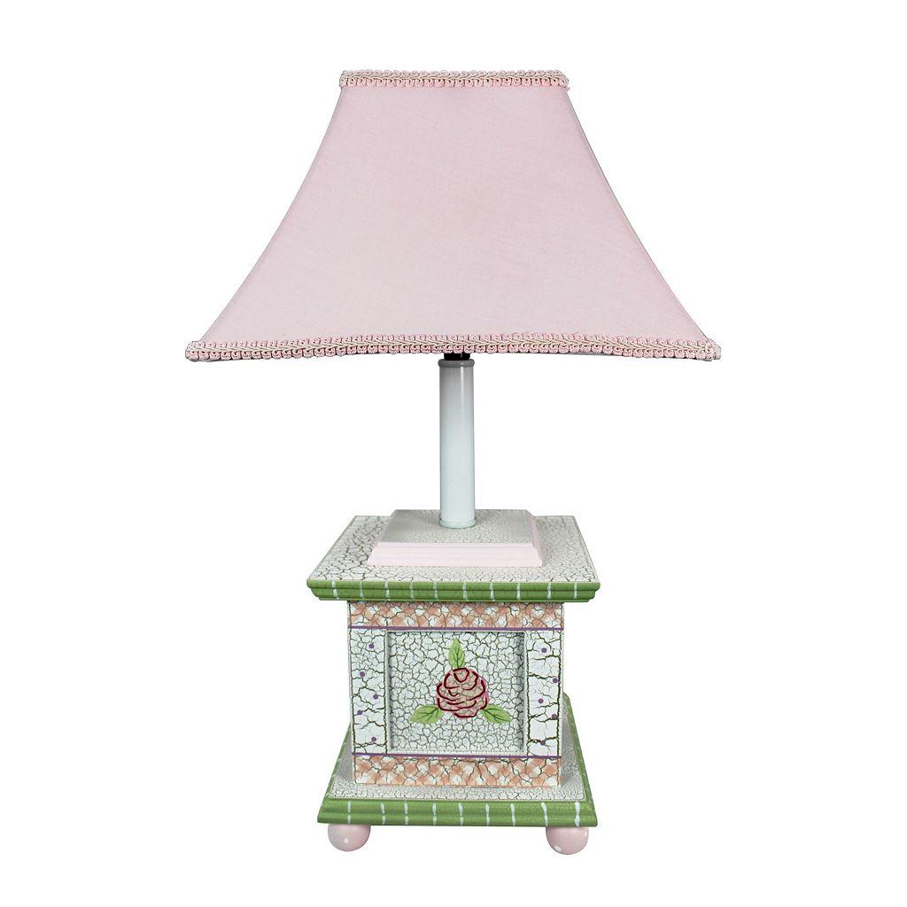 Teamson Kids Floral Crackled Table Lamp