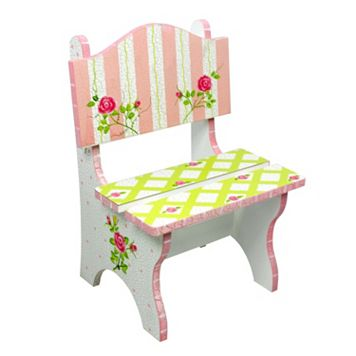 Teamson Kids Floral Crackled Chair