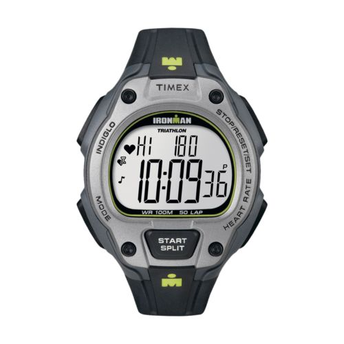Timex Watch Set - Men's Ironman Road Trainer Resin Digital Heart Rate Monitor - T5K719F5