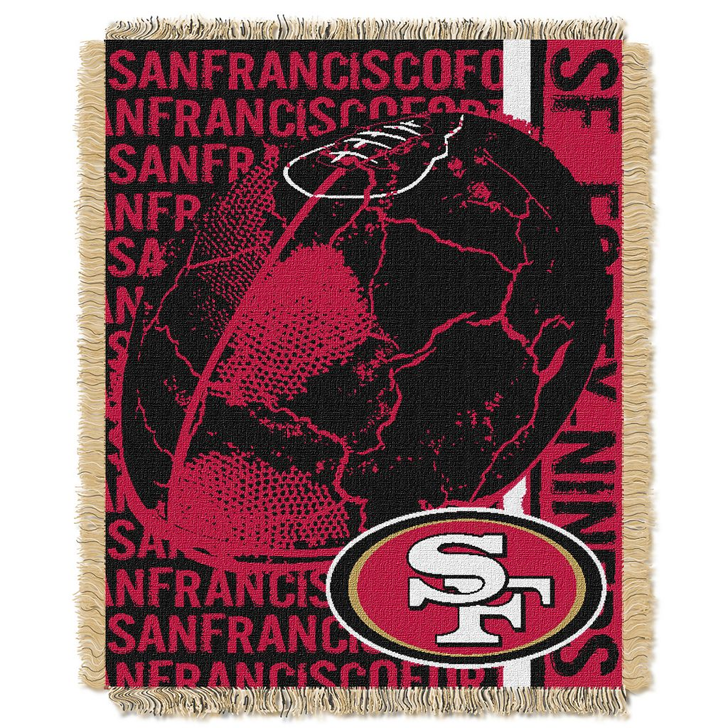San Francisco 49ers Jacquard Throw