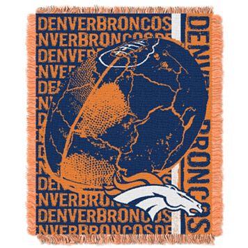 Denver Broncos Jacquard Throw