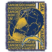 San Diego Chargers Jacquard Throw