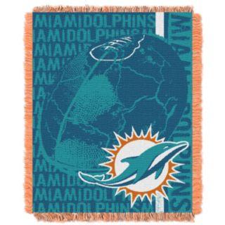 Miami Dolphins Jacquard Throw