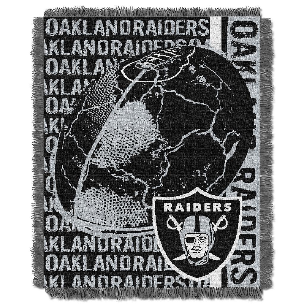 Oakland Raiders Jacquard Throw