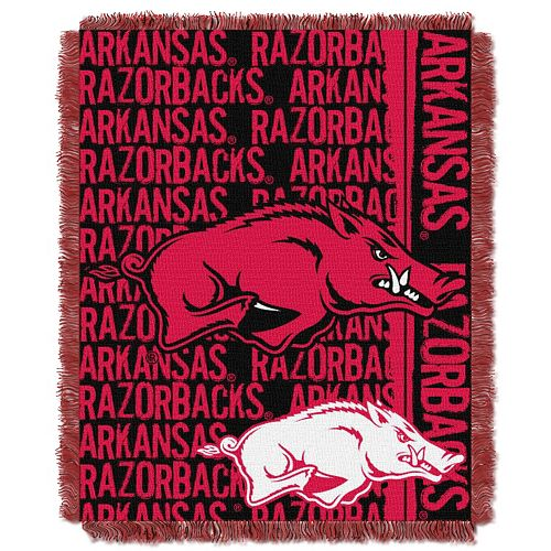 Arkansas Razorbacks Jacquard Throw Blanket by Northwest