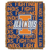 Illinois Fighting Illini Jacquard Throw Blanket by Northwest