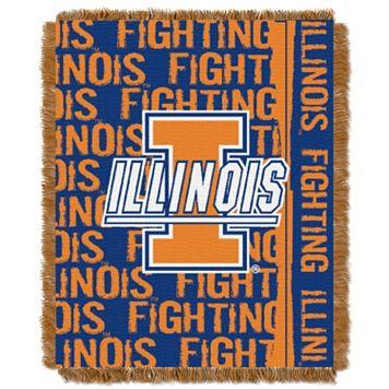 Illinois Fighting Illini Jacquard Throw Blanket by Northwest