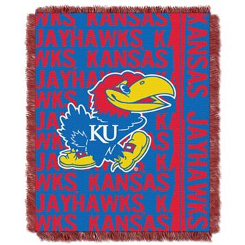 Kansas Jayhawks Jacquard Throw Blanket by Northwest