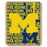 Michigan Wolverines Jacquard Throw Blanket by Northwest