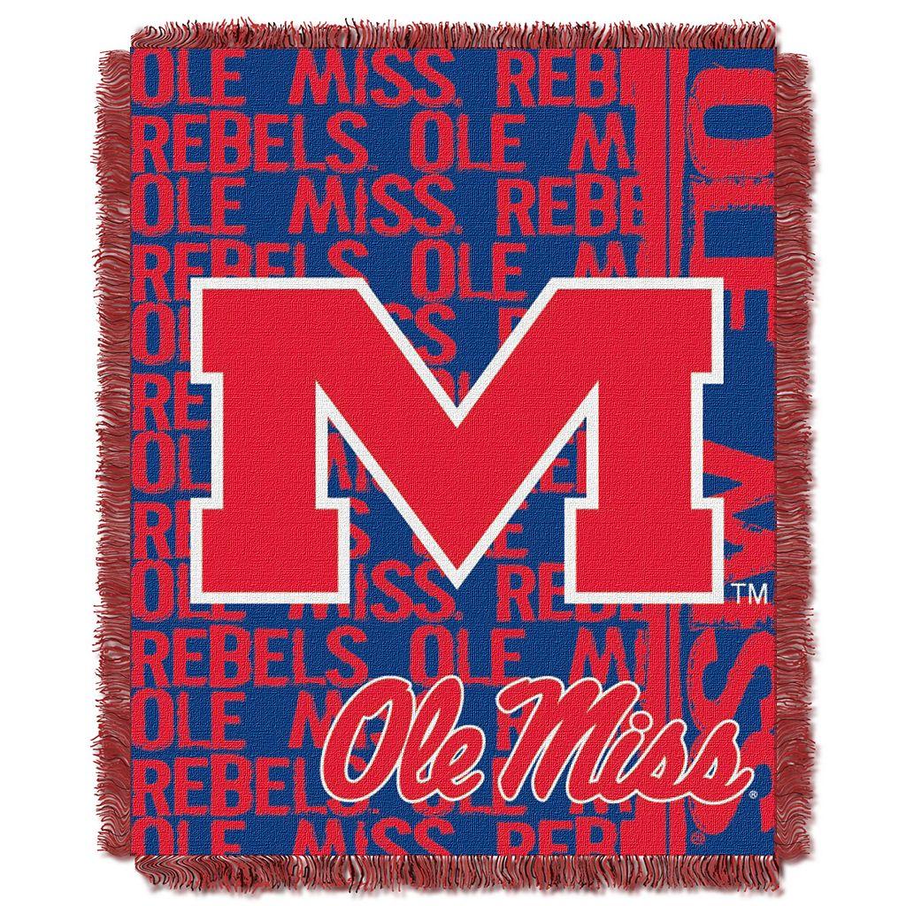 Ole Miss Rebels Jacquard Throw Blanket by Northwest