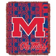 Ole Miss Rebels Jacquard Throw Blanket by Northwest