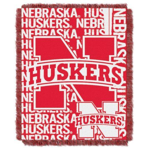Nebraska Cornhuskers Jacquard Throw Blanket by Northwest