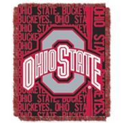 Ohio State Buckeyes Jacquard Throw Blanket by Northwest
