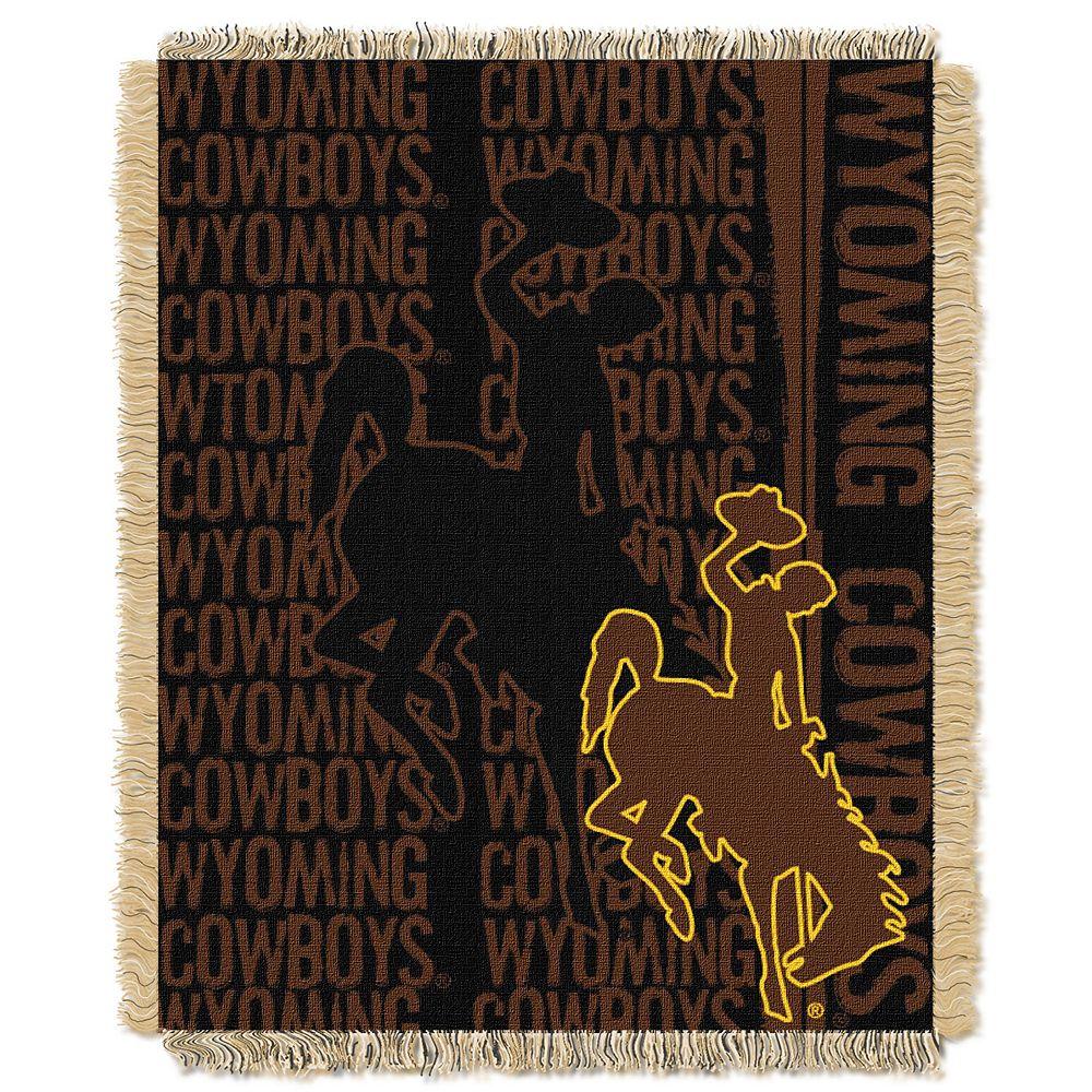 Wyoming Cowboys Jacquard Throw Blanket by Northwest