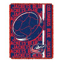 Columbus Blue Jackets Jacquard Throw Blanket by Northwest