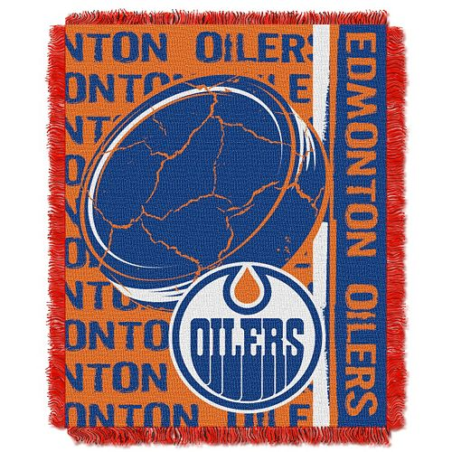 Edmonton Oilers Jacquard Throw Blanket by Northwest
