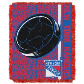 New York Rangers Jacquard Throw Blanket by Northwest