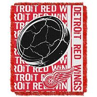 Detroit Red Wings Jacquard Throw Blanket by Northwest