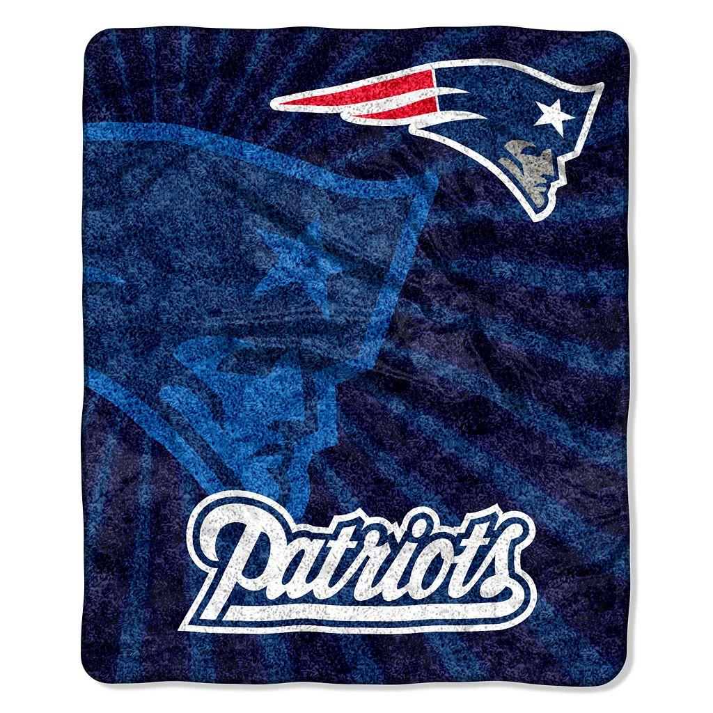 New England Patriots Sherpa Blanket