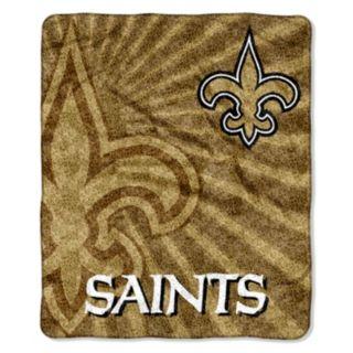 New Orleans Saints Sherpa Blanket